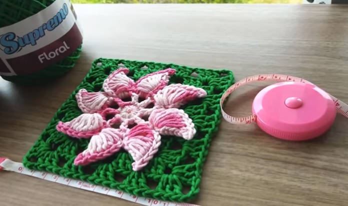 Square Flor Catavento Em Crochê – Material e Vídeo