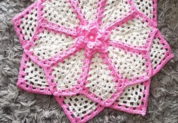 Tapete Pérola Rosa Em Crochê – Material e Vídeo
