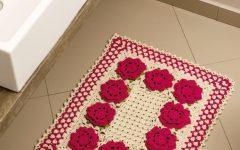 Tapete Retangular Com Flores Em Crochê – Material e Receita