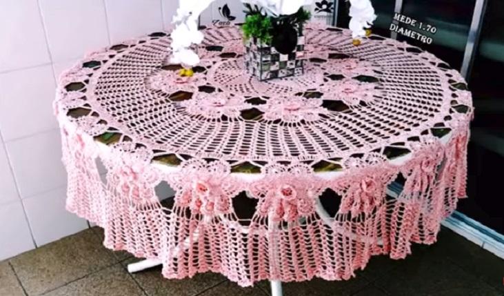 Toalha de Mesa Antonieta Em Crochê – Material e Vídeo