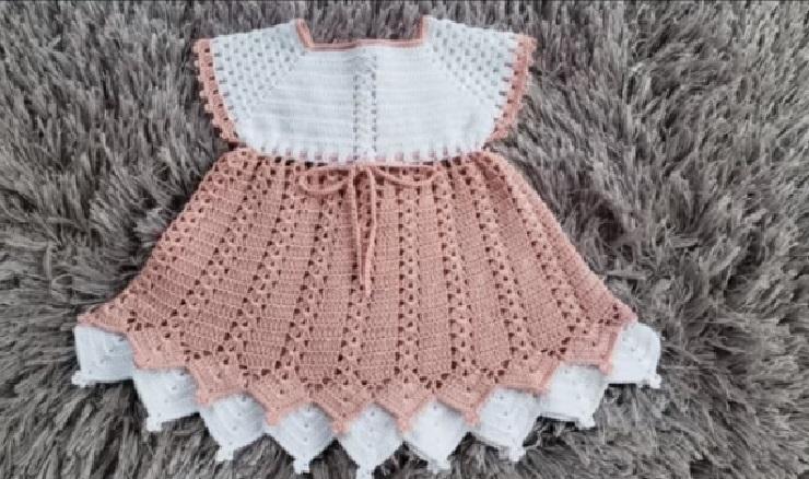 Vestido Mikaela Bebê Em Crochê – Material e Vídeo