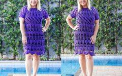 Vestido Ultra Violeta Em Crochê – Material e Vídeo