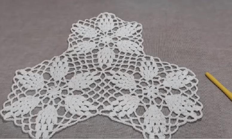 Aplicação Com Seis Cantos Em Crochê – Material e Vídeo