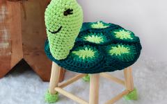 Banquinho Tartaruga Em Crochê – Material e Receita