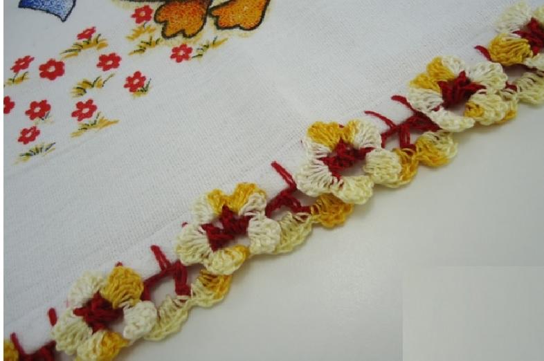 Bico Florzinhas Em Crochê – Material e Vídeo