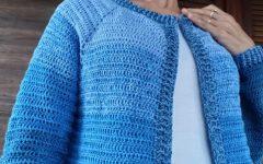 Cardigã Topdown Em Crochê – Material e Vídeo