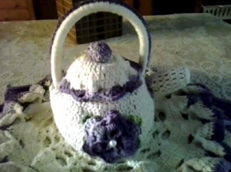 Chaleira Decorativa Em Crochê – Material e Vídeo