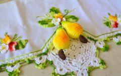 Pano de Prato Cajus Em Crochê – Material e Receita
