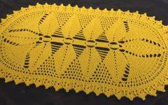 Tapete Oval Amarelo Em Crochê – Material e Vídeo