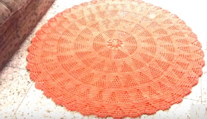 Tapete Redondo Charmoso Em Crochê – Material e Vídeo