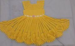 Vestido Amarelo Para 4 e 5 anos Em Crochê – Material e Vídeo
