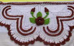 Barrado Pano de Prato Coração Feliz Em Crochê – Material e Vídeo