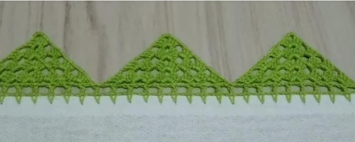 Bico Para Pano de Prato Triangular Em Crochê – Material e Vídeo
