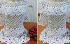 Blusa Flores Diagonal Crochê – Material e Vídeo