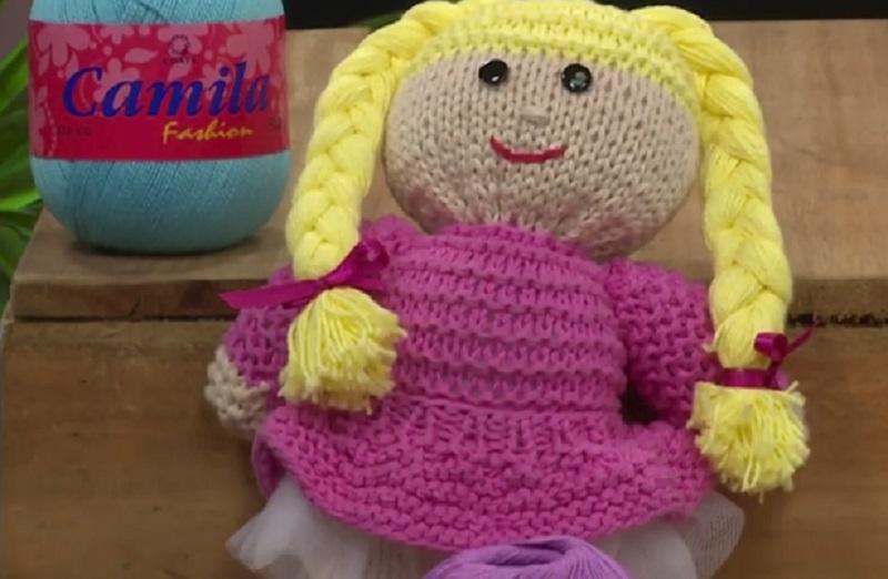 Boneca Rebeca Em Tricô – Material e Vídeo