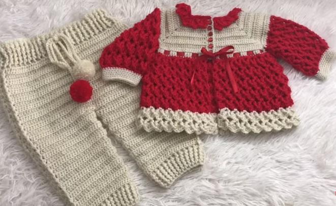 Conjunto Bebê Em Crochê – Material e Vídeo