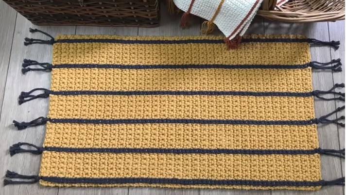 Tapete Retangular Spesso – Material e Receita