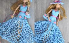 Vestido de Boneca Chapéu e Bolsa Em Crochê – Material e Vídeo