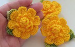 Flor Enrolada Em Crochê – Material e Vídeo