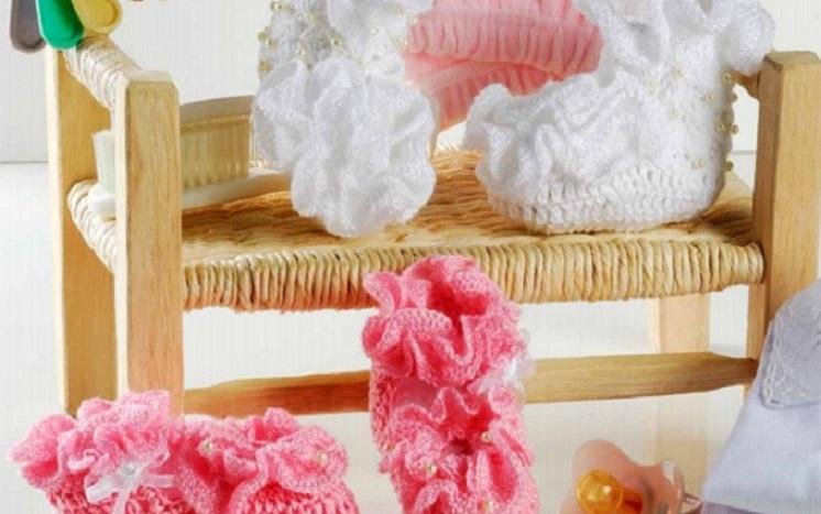 Sapatinho Babados Em Crochê – Material e Receita