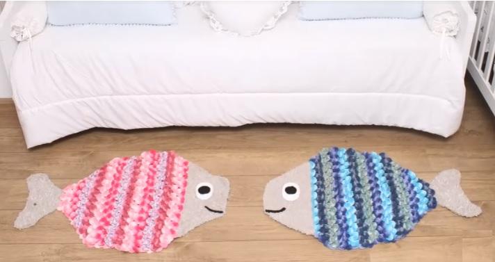 Tapete Infantil Peixinho Em Crochê – Material e Vídeo