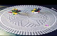 Toalha de Mesa Redonda Em Crochê – Material e Vídeo