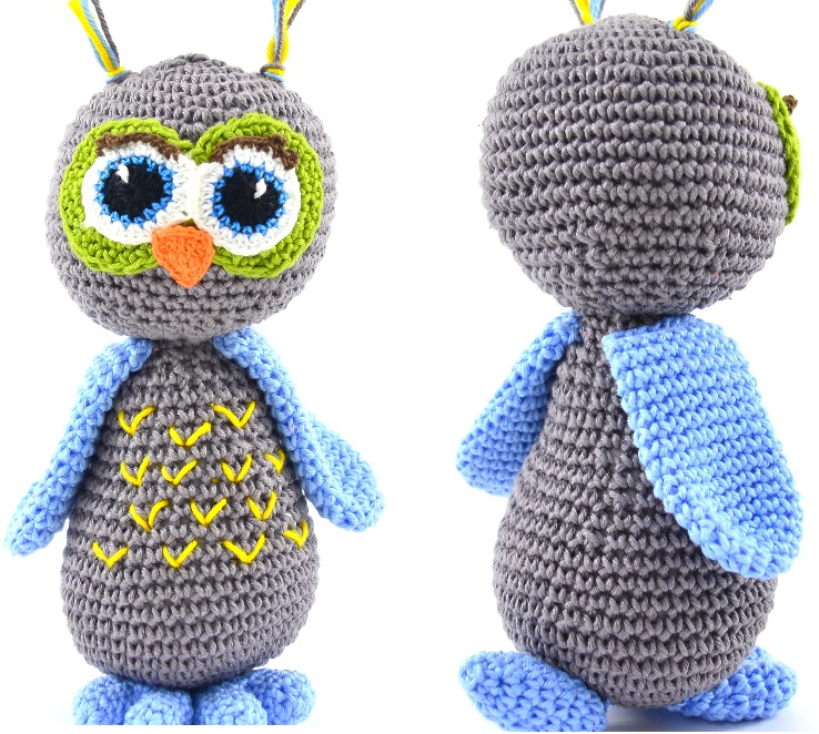 Amigurumi Coruja Anastácia de Crochê – Material e Receita