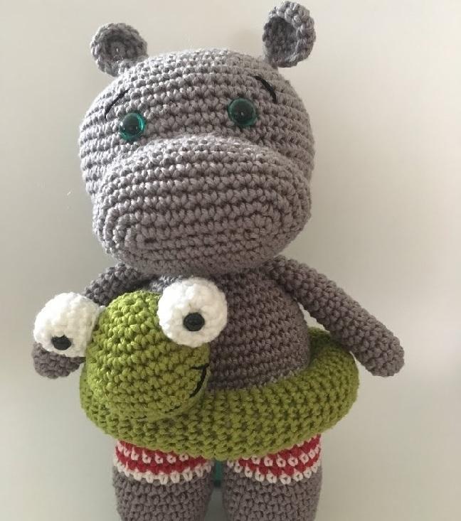 Amigurumi Hipopótamo Rilson Em Crochê – Material e Vídeo