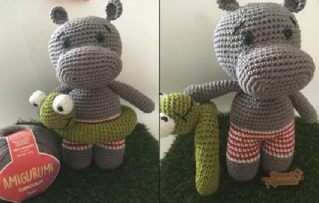 Amigurumis DIY: Hipopótamos simpáticos | 411x646