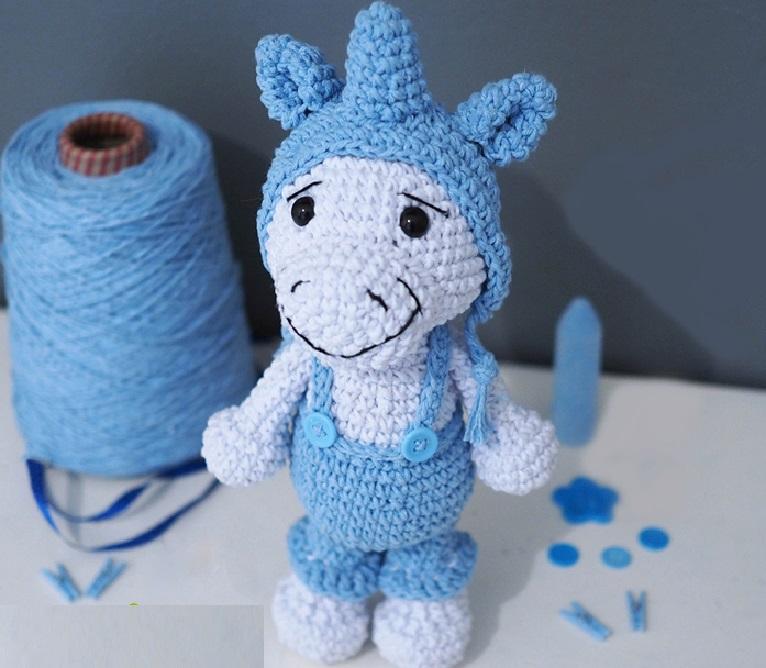 Amigurumi Unicórnio Enzo Em Crochê – Material e Receita