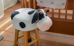 Banquinho Vaquinha Em Crochê – Material e Receita