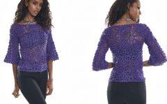 Blusa Violeta Square Em Crochê – Material e Receita