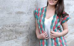 Colete Listrado Em Crochê – Material e Receita