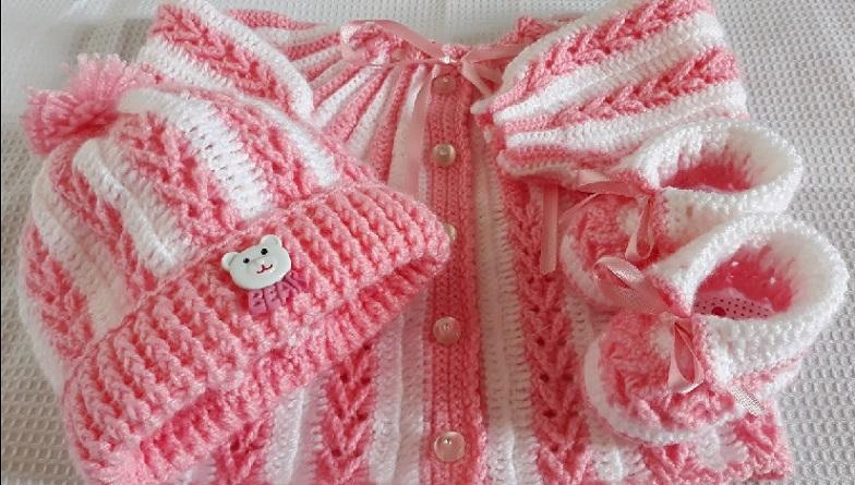 Conjunto Para Bebê Em Crochê