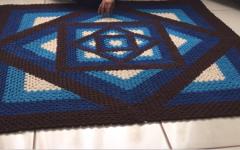 Tapete Caleidoscópio Em Crochê – Material e Vídeo