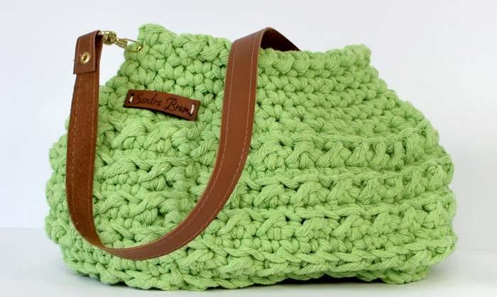 Bolsa de Barbante Espesso Em Crochê – Material e Receita