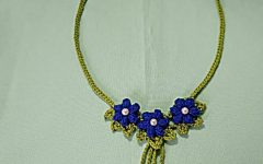 Gargantilha Floral Em Crochê – Material e Vídeo
