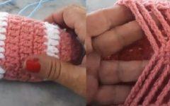 Sapatilha Simples Em Crochê – Material e Vídeo