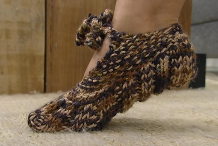 Sapato Em Tricô – Material e Passo a Passo e Vídeo