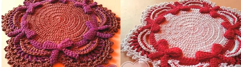Sousplat Lacinho Em Crochê – Material e Vídeo