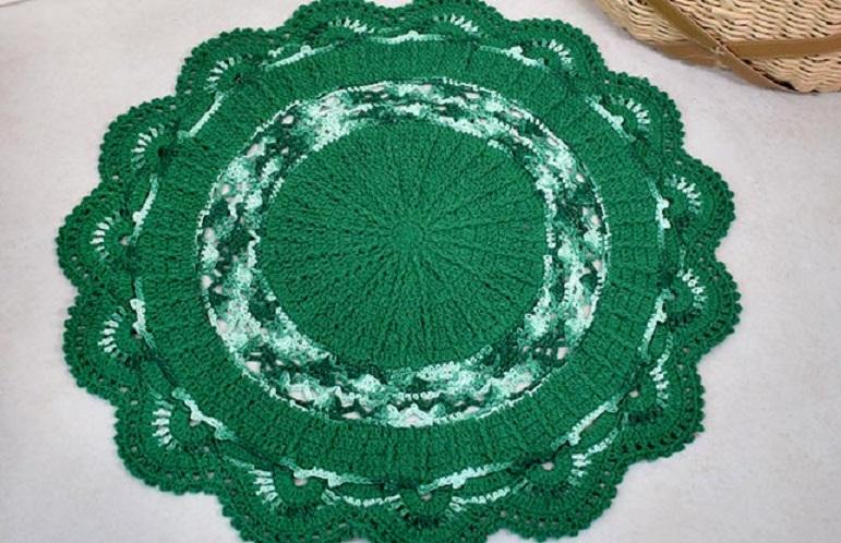 Tapete Hortelã Em Crochê – Material e Receita