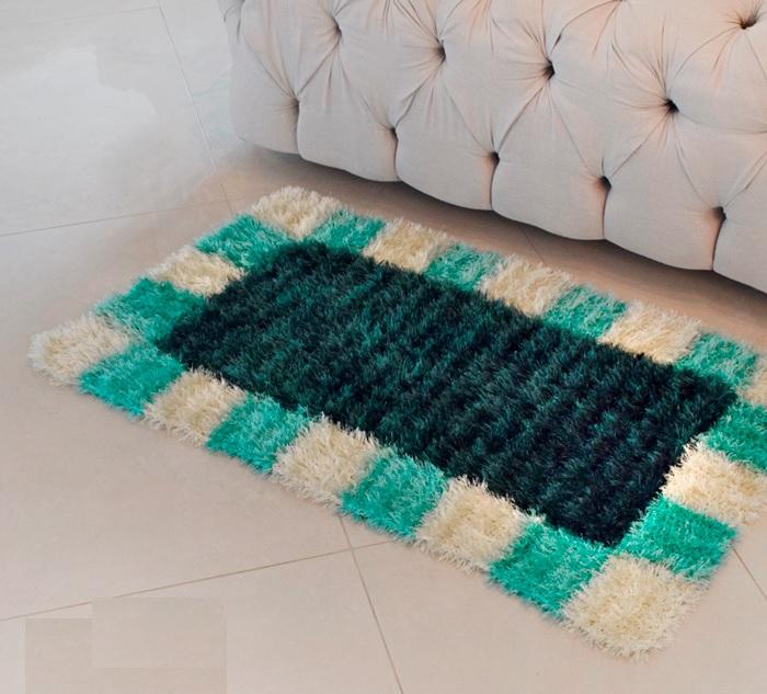 Tapete Quadradinhos Em Crochê – Material e Receita