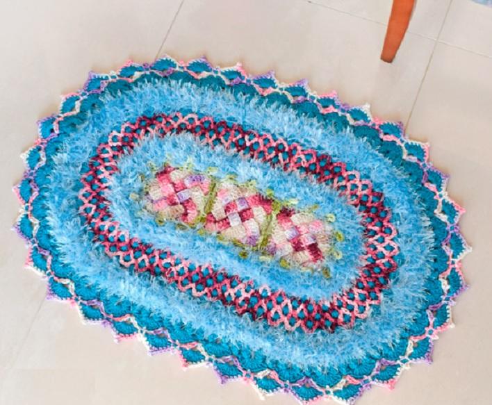 Tapete Violeta Em Crochê – Material, Receita e Vídeo