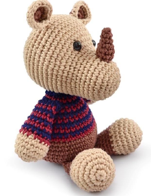 Amigurumi Maxi Rinoceronte Em Crochê – Material e Receita