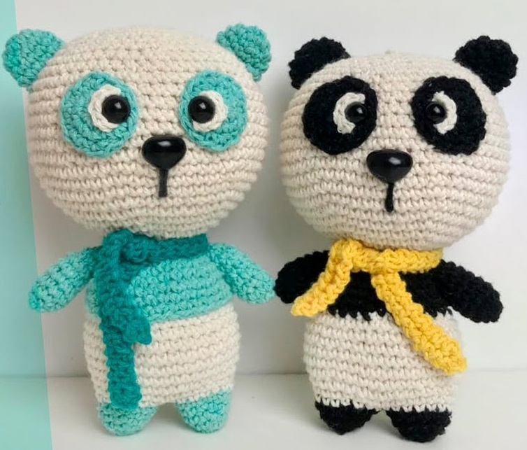 Amigurumi Panda Em Crochê – Material e Vídeo