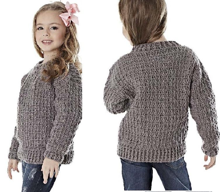 Blusa Infantil Alumínio Em Crochê