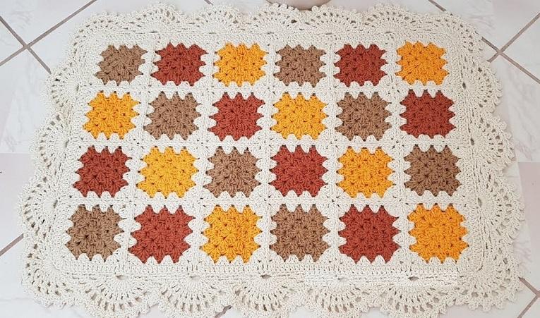Jogo de Banheiro Colorido Em Crochê – Material e Vídeo