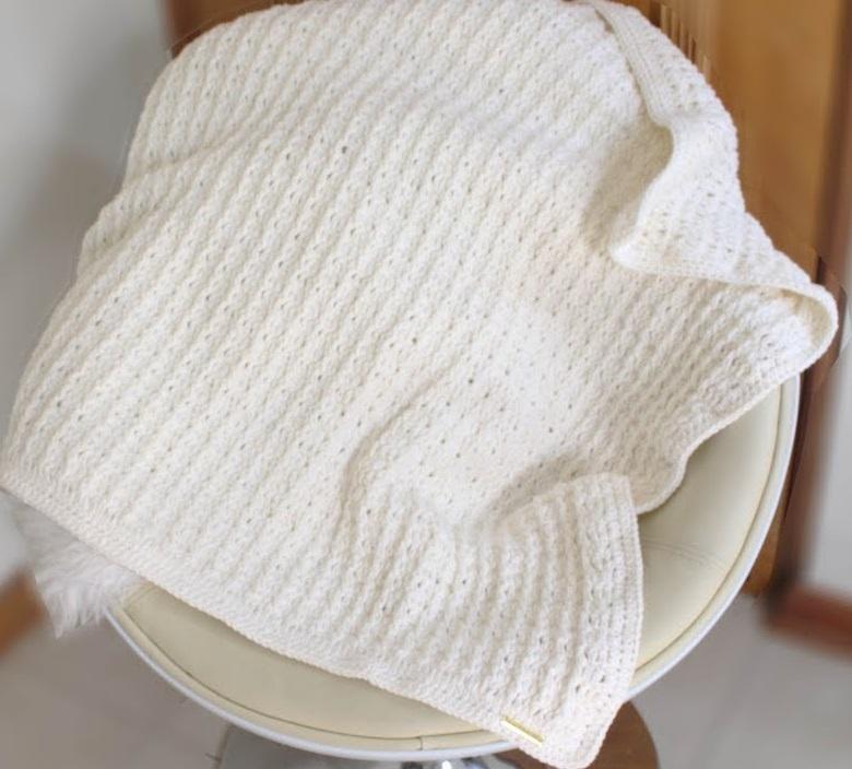 Manta De Bebê Fácil Em Crochê – Material e Vídeo