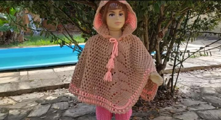 Poncho Infantil Irene Em Crochê – Material e Vídeo