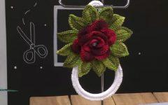 Porta Pano de Prato Flor Em Crochê – Material e Vídeo